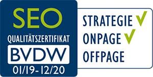 BVDW - Qualitätszertifikat SEO