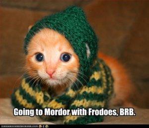 Katze ab nach Mordor :-)