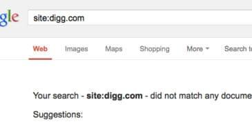 Digg.com versehentlich aus Google gelöscht