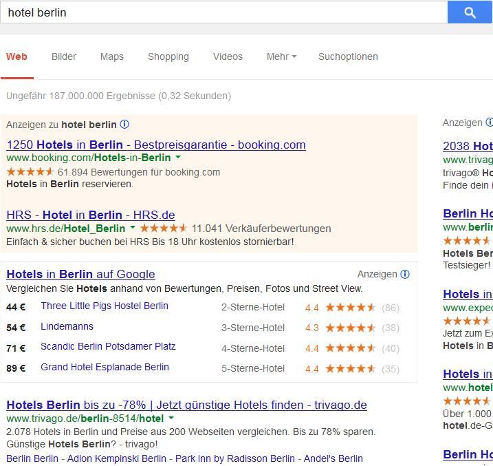 """Die """"tolle"""" neue Hotelsuche."""