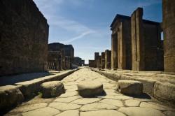 Damit kenne ich mich auch aus: Blick in eine Straße von Pompeji