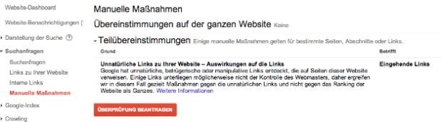 """""""Teilübereinstimmungen"""" in den Webmastertools"""