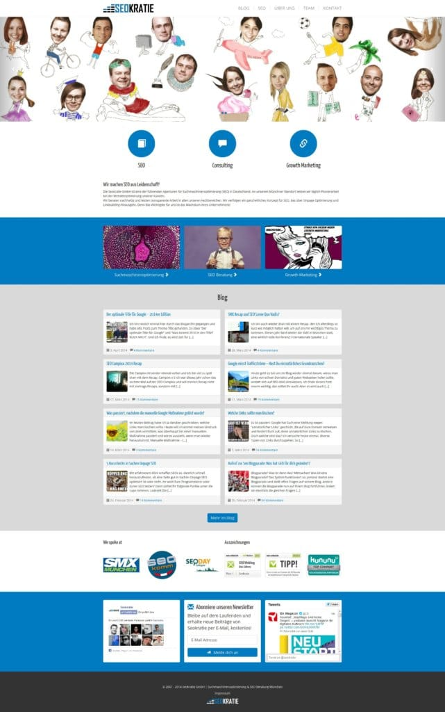 Seokratie Redesign & SEO Design Gruselshow