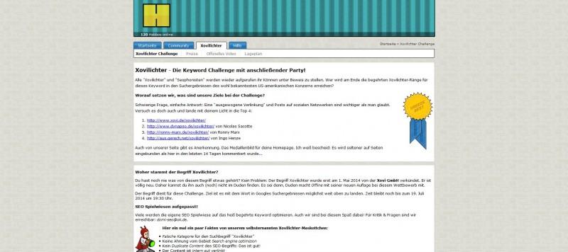 Die Webseite von Habbo