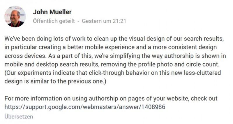 """""""Removing the profile photo and circle count"""" Kein Profilfoto mehr und keine Anzeige, in wie vielen Kreisen man ist."""