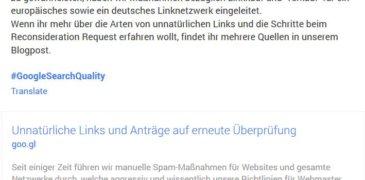 Wieder zwei deutsche Linknetzwerke abgestraft