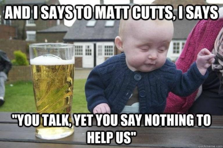 Baby redet zu Matt Cutts