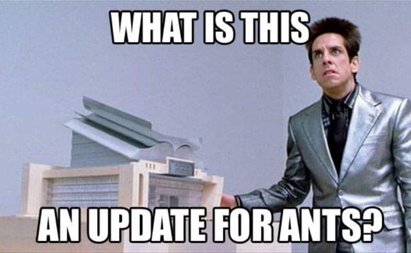 Update für Ameisen