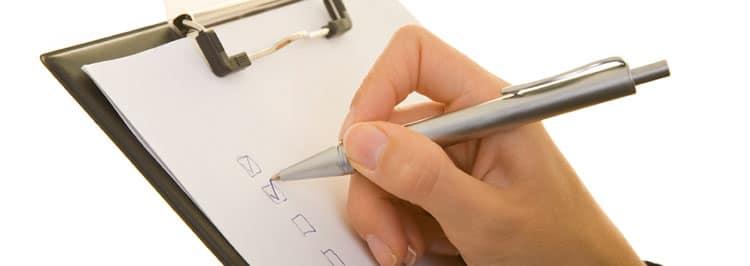 checklist zur prüfung