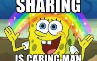 Sharing is Caring man - spongebob