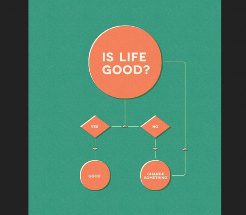 Infografik minimalistisch