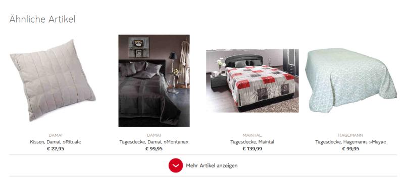 Vergleichbare Produkte Produktseite