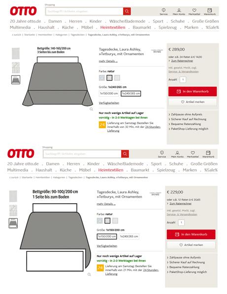 anschauliche Produktseite mit grafischer Abbildung