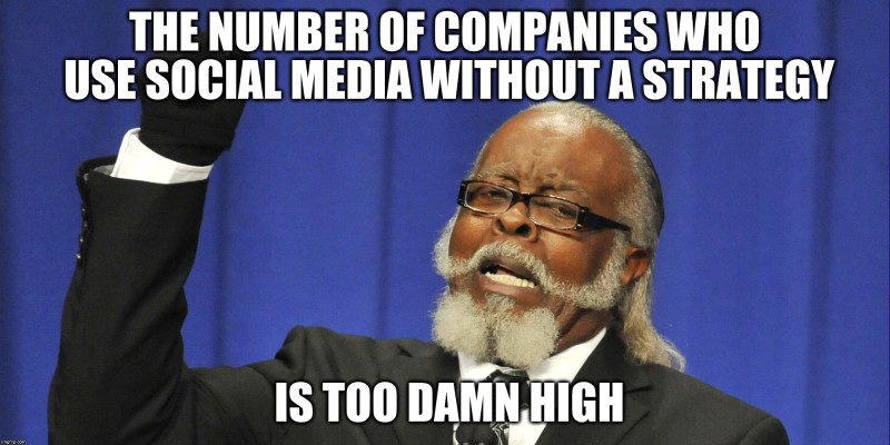 Too Damn hight social media strategy