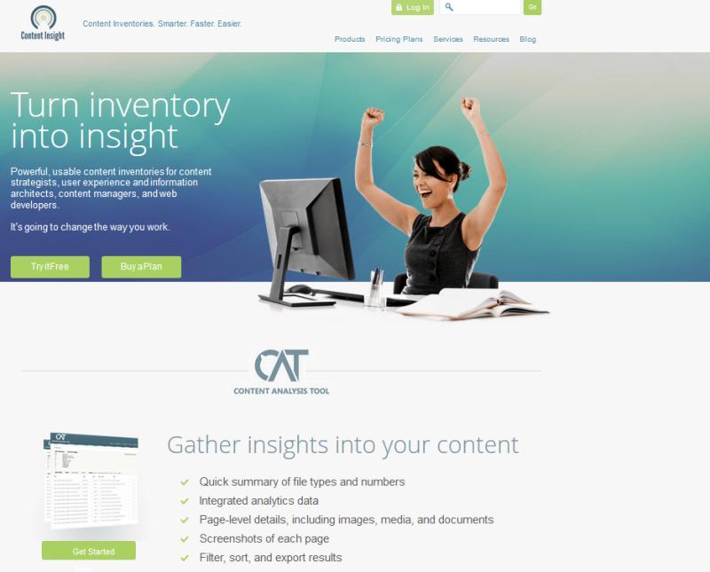 Content Inventory Screenshot