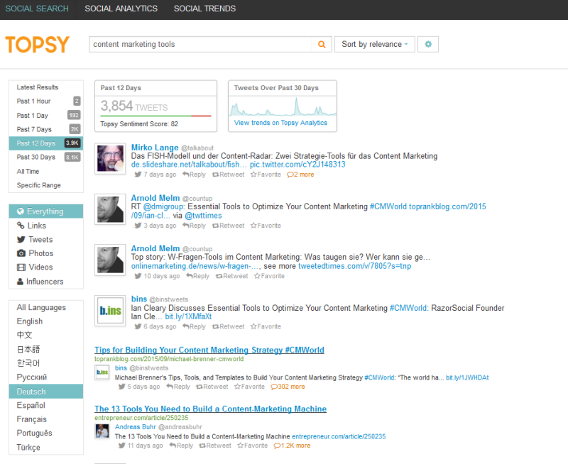 Topsy Screenshot