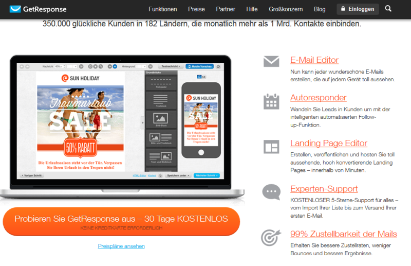 getresponse screenshot