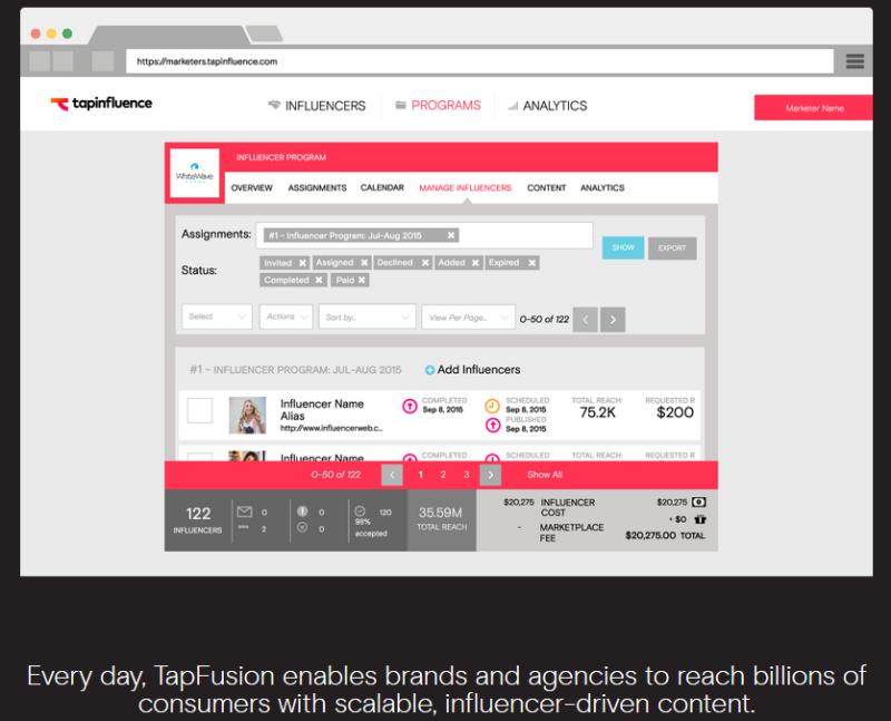 Tapinfluence Screenshot