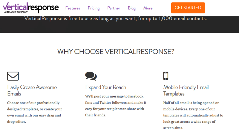 vertical response screenshot