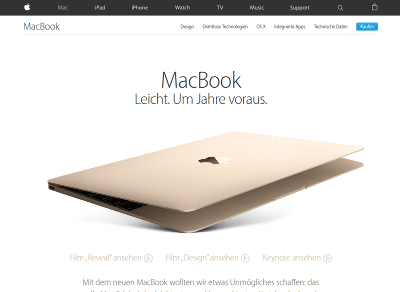 pefekter Umgang mit Alleinstellungsmerkmalen: Apple