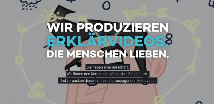 Begrüßungstext auf Startseite, der den Gegenstand der Website erklärt