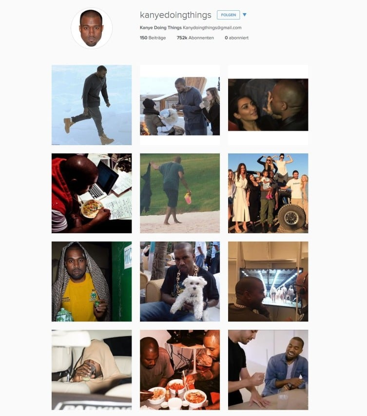 Zufällige Alltagsbilder von Kanye.
