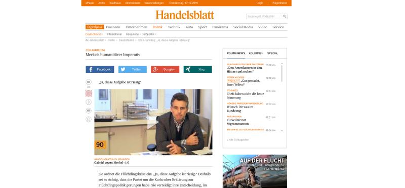 """Beim Handelsblatt und anderen Online-Zeitungen würde die Verwendung von """"noindex"""" keinen Sinn machen."""