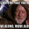 """Star Wars Meme """"This is not the Page you're looking for"""""""