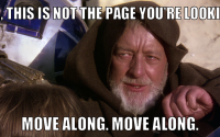 "Star Wars Meme ""This is not the Page you're looking for"""