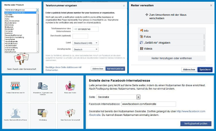 CollageFacebookSeiteninformationen