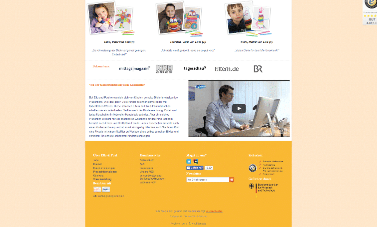 übersichtliche, userfreundliche Startseite
