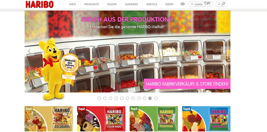 Haribo-Homepage