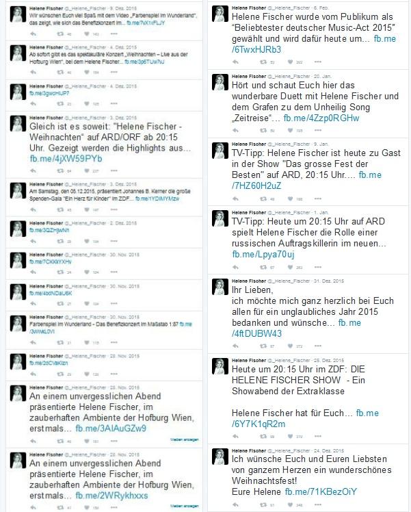 Twitter Account von Helene Fischer