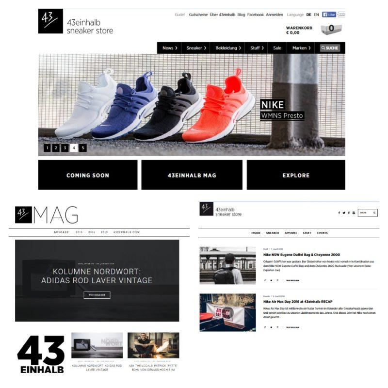 43einhalb Sneaker Magazin Collage