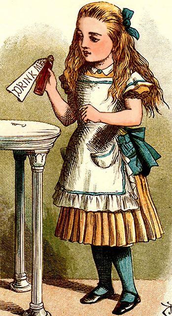 Alice im Wunderland historische Zeichnung