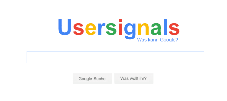 usersignals: was kann google?