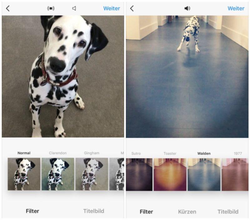 Längere Videos Instagram-Beispiel