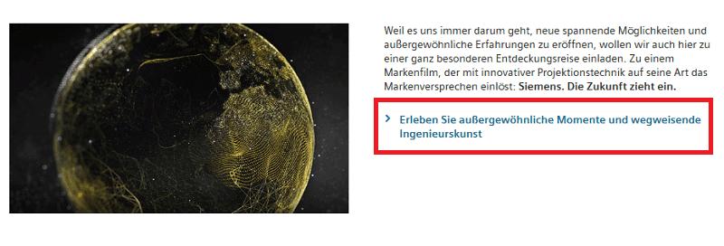 CTA im Content von Siemens.de