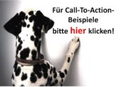 Bürohund Amira klickt den Call-To-Action