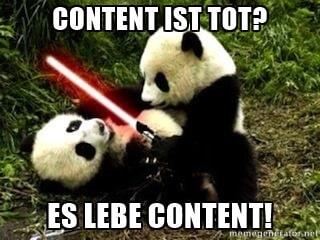 Content ist tot-Panda-Seokratie.de