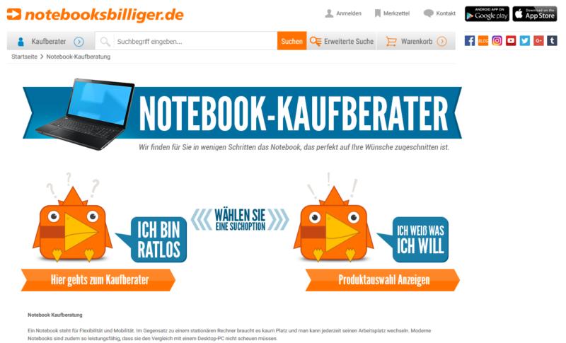 Notebook Online-Kaufberatung notebooksbilliger.de