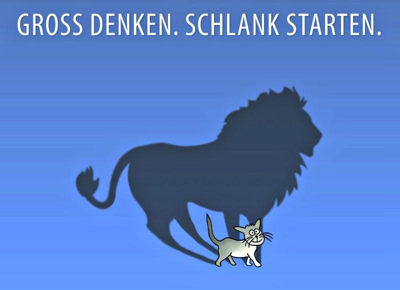 Groß denken-Schlank starten-von Hirschfeld und Josche
