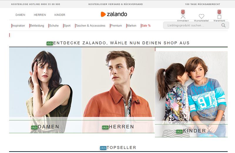 Seo-ueberschriften-zalando-screenshot-startseite