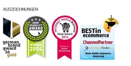 Awards und Preise für den Donkey Online Shop