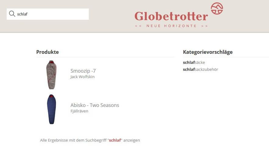 Produktsuche bei Globetrotter.de