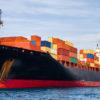 großes containerschiff