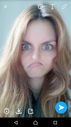 Neele mit grumpy Filter von Snapchat