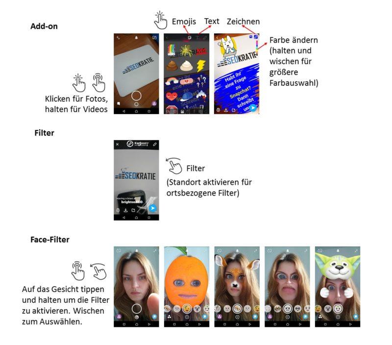 Bearbeitungsmöglichkeiten bei Snapchat. Kennt Ihr noch 'the annoying orange'?