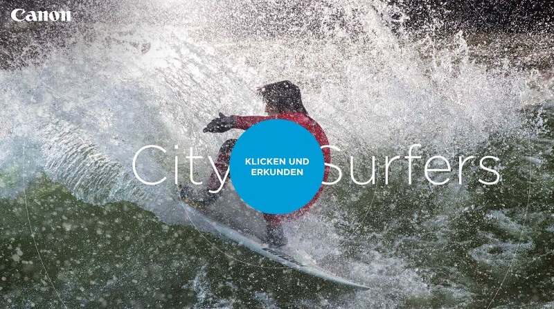 City Surfer Aktion von Canon
