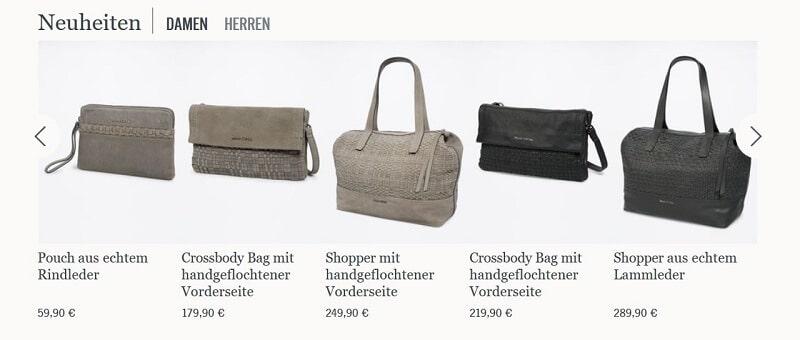 Produktansicht Damentaschen